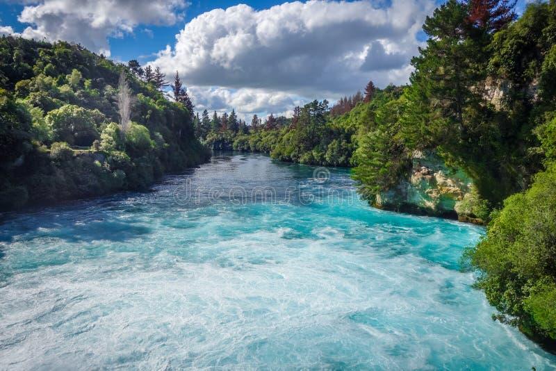 Huka falls, Taupo, New Zealand. Huka falls landscape, Taupo region, New Zealand stock photography
