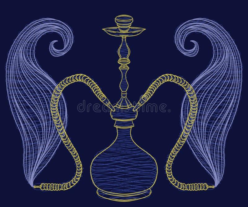 Huka und Rauch stock abbildung