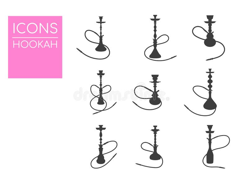 Hukavektorillustration Einfache Hukaikonen Schattenbild der Huka lizenzfreie abbildung