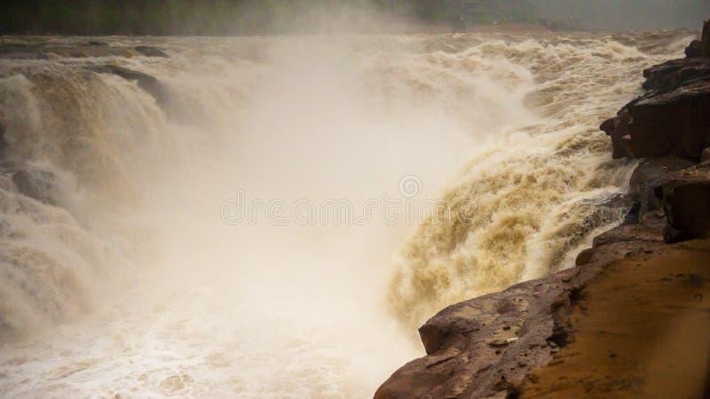 Hukou Wasserfall lizenzfreies stockfoto