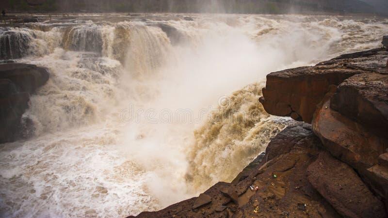 Hukou Waterfall stock photography