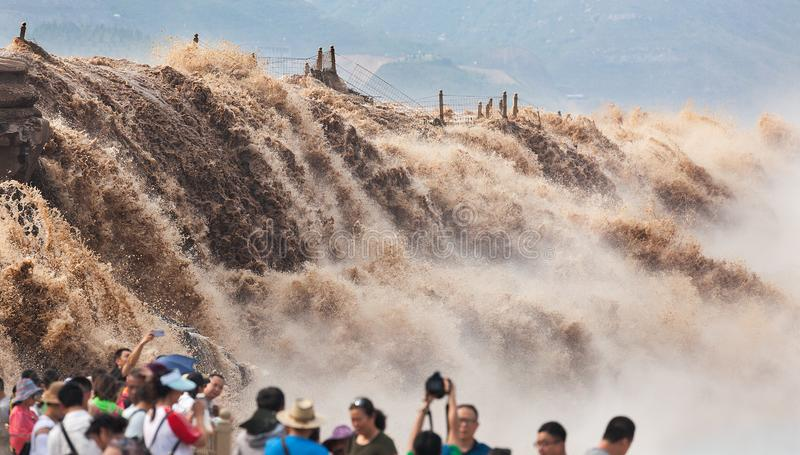HuKou waterfall of the yellow river royalty free stock photos