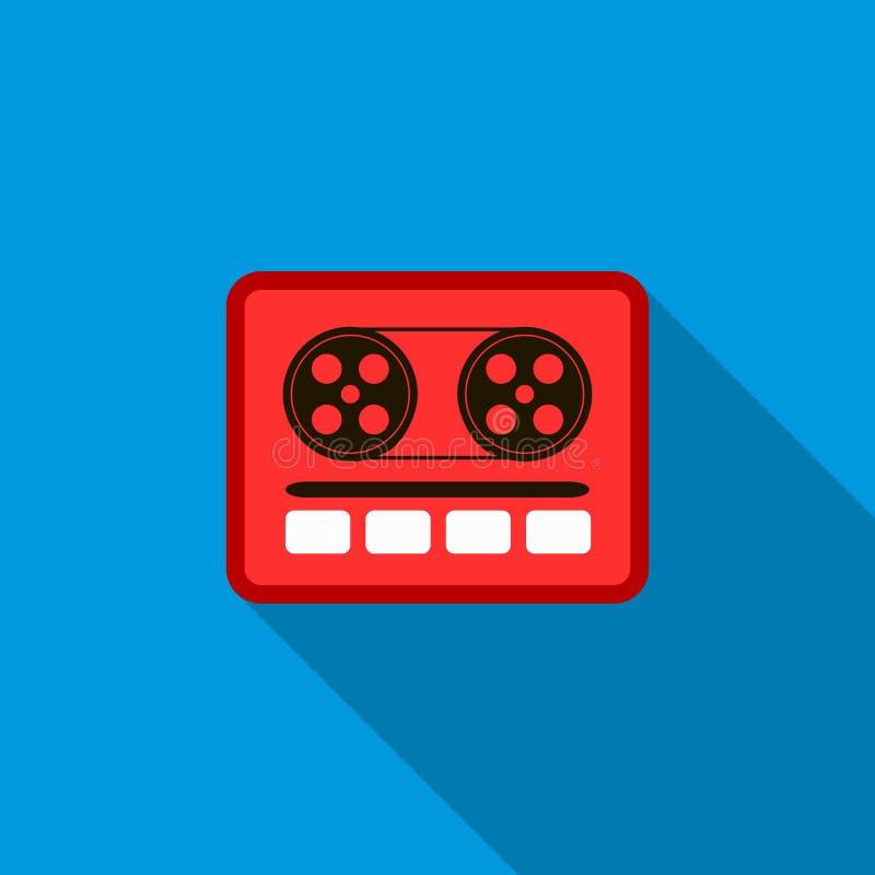 Huku pudełka lub radio kasety taśmy gracza ikona ilustracji
