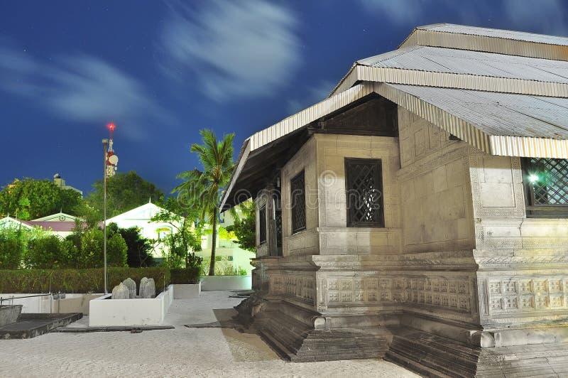 Hukuru Miskiiy lub Stary Piątku meczet w Maldives, zdjęcia stock