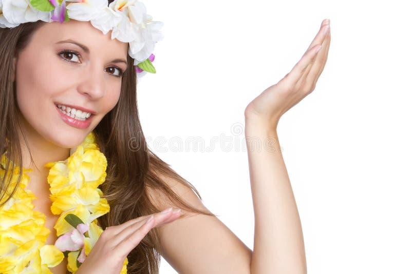 Hula Dancer. Beautiful tropical hawaiian hula dancer royalty free stock image