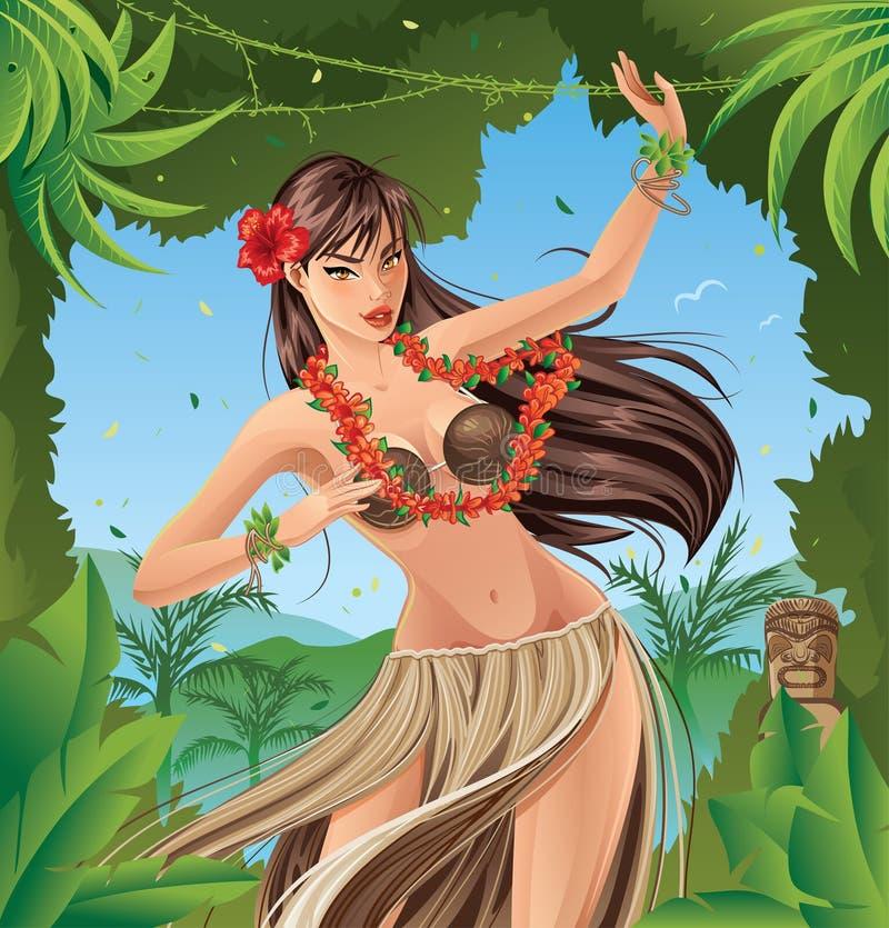 Hula Dancer vector illustration