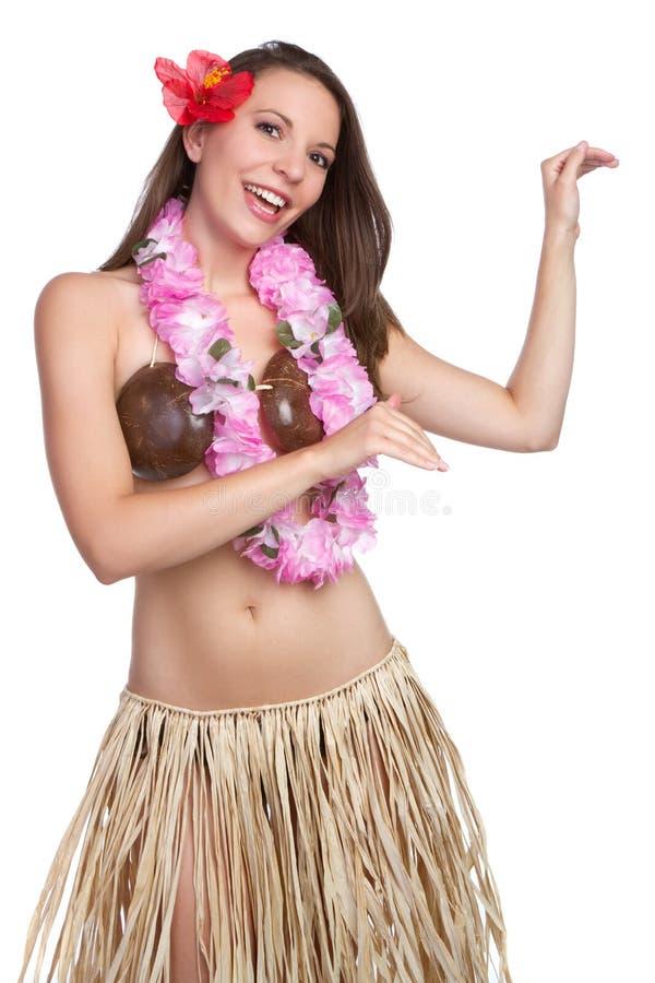 Hula Dancer Girl. Beautiful tropical hula dancer girl royalty free stock image
