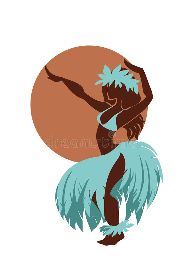 Free Hula Dancer Silhouette Against The Sun Disk Royalty Free Stock Image - 63246876