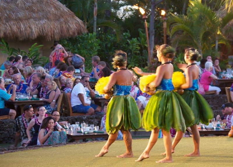 Hula dancers stock photos