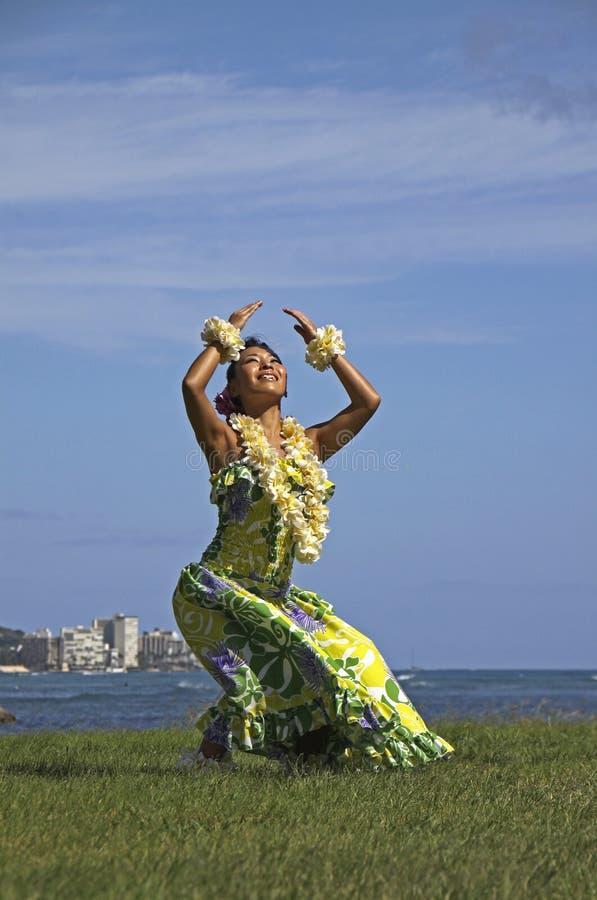 Hula dansare royaltyfria bilder
