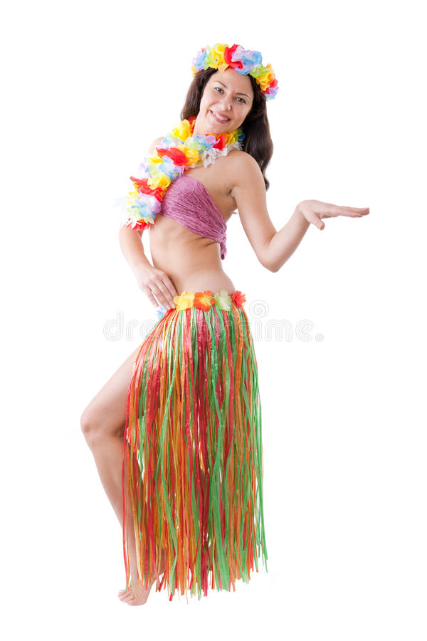 Download Hula girl stock image. Image of revival, flower, belly - 12644171