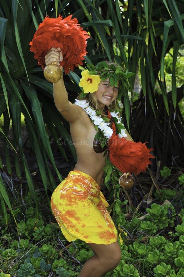 Hula hawaiano immagine stock libera da diritti