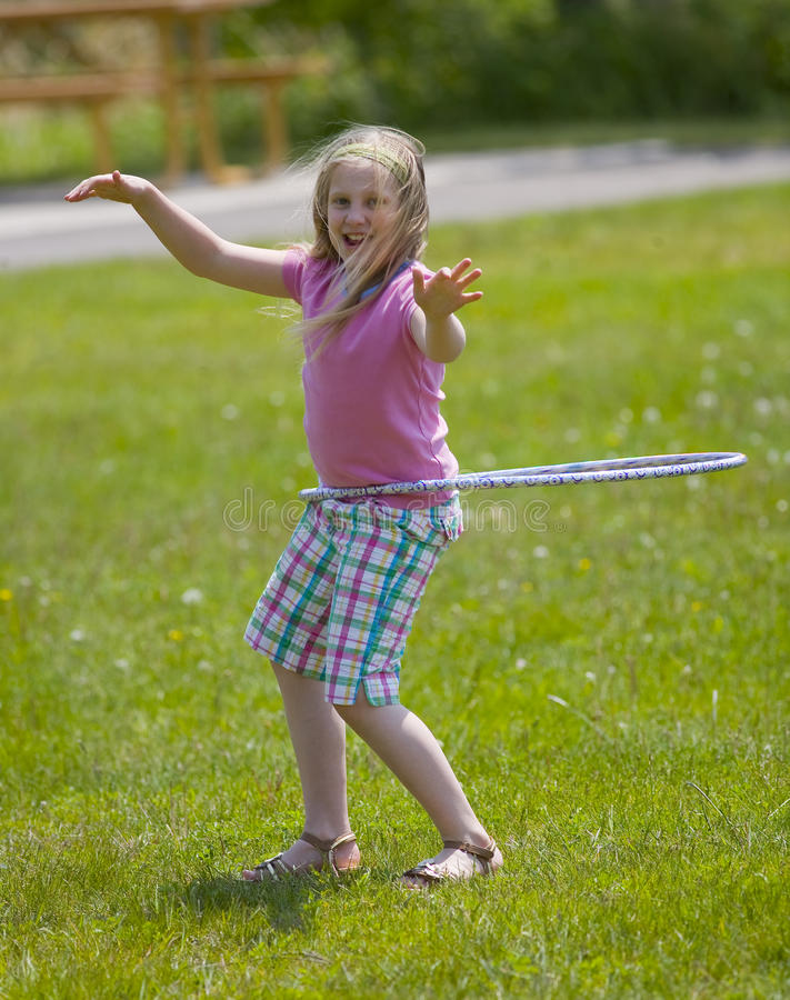 Download Hula Hoop Girl stock photo. Image of play, exercise, child - 9769026