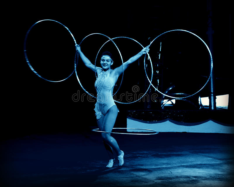 Hula Hoop Performer royalty free stock photography
