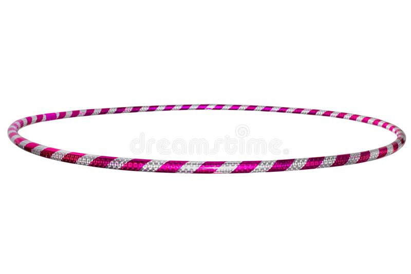 The hula Hoop silver with purple isolated on white background. G. The hula Hoop silver with purple isolated on white background stock images