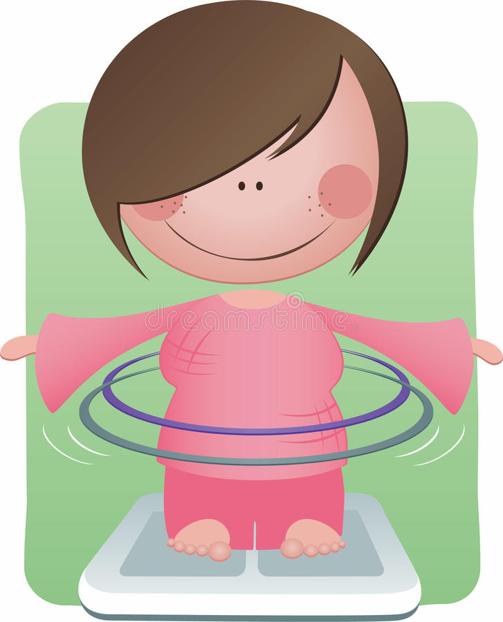 Download Hula Hooping stock illustration. Image of lady, girl - 14863375