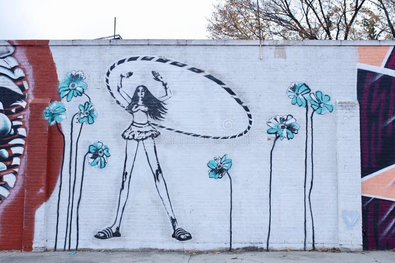 Hula-Mädchen-Malerei, Memphis, Tennessee lizenzfreie stockbilder