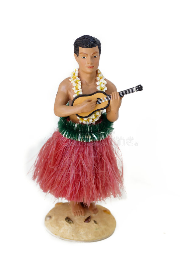 Hula Man. Novelty kitsch tourist souvenir from Hawaii stock images
