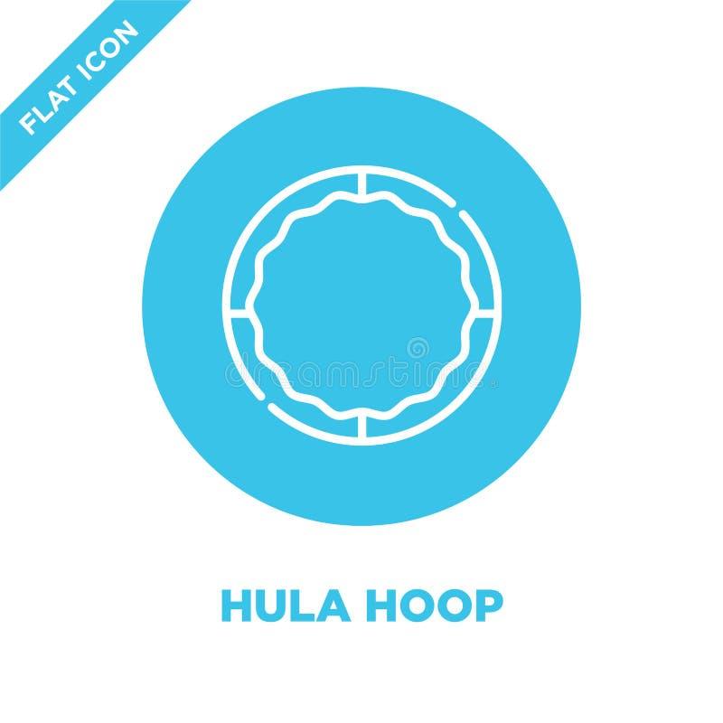 hula obręcza ikony wektor od dziecka bawi się kolekcję Cienka kreskowa hula obręcza konturu ikony wektoru ilustracja Liniowy symb ilustracja wektor