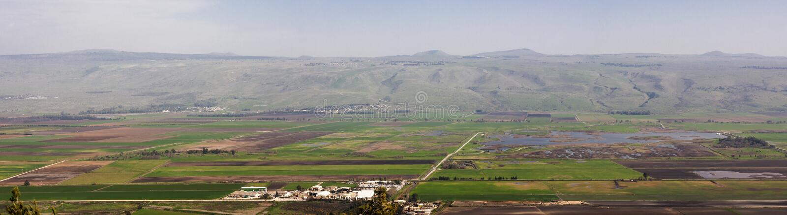 Hula Valley stock photo