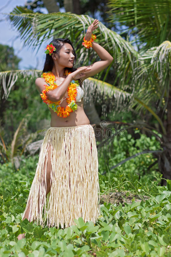 Huladanser van Hawaï royalty-vrije stock fotografie
