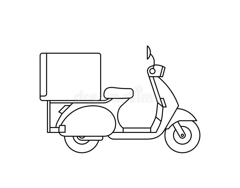 hulajnoga kurier ilustracji