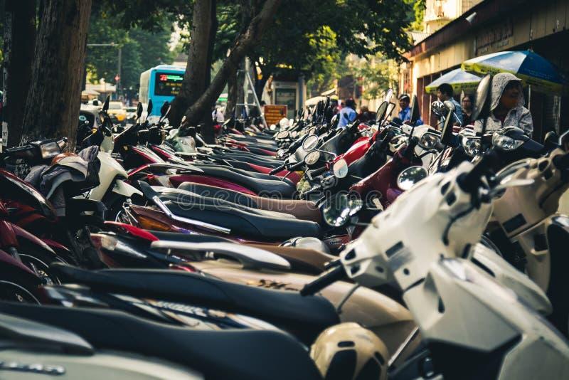 Hulajnoga parkować w Hanoi, Wietnam zdjęcie royalty free