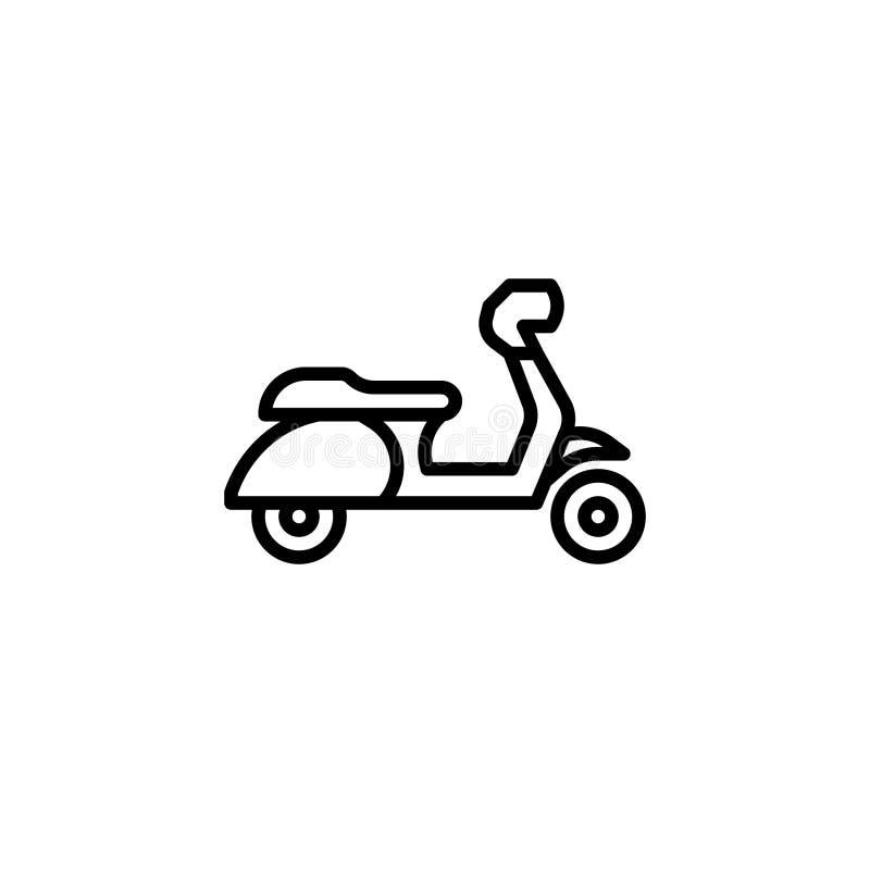 Hulajnogi ikona z kreskowym stylem również zwrócić corel ilustracji wektora ilustracja wektor