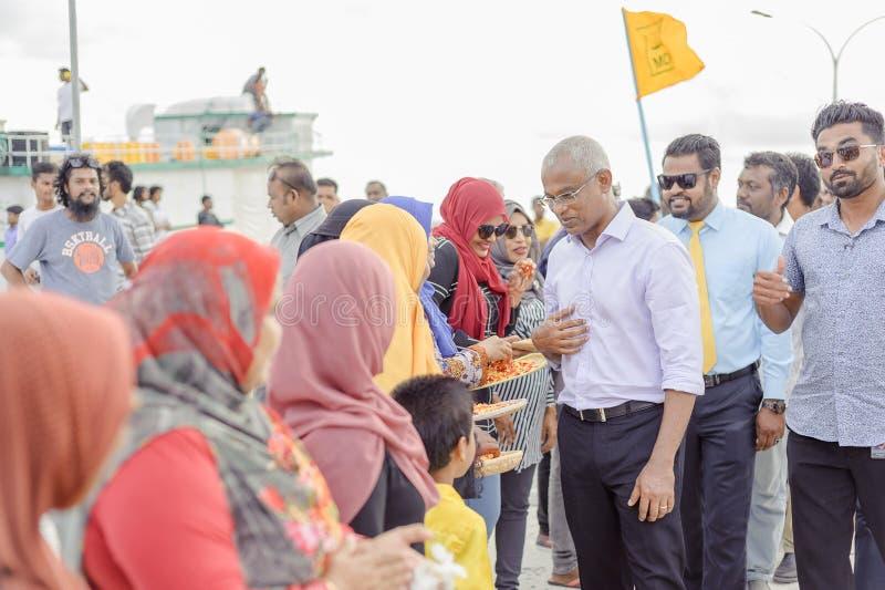 Hulhumale Biulding's - la più grande isola artificiale delle Maldive, fotografia stock