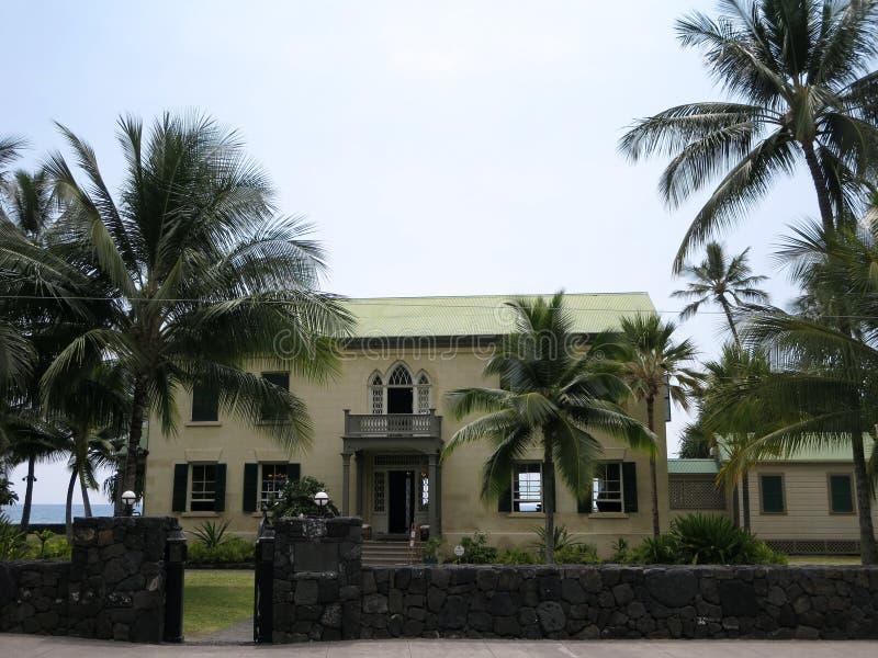 Huliheepaleis in kailua-Kona, Hawaï stock foto's