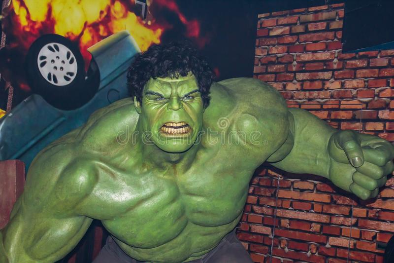 Hulk, figura di cera, Amsterdam di signora Tussaud immagini stock