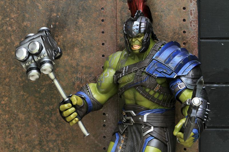 Hulk Gladiator Figure Model 1/6 scale on outdoor at Home stock photos