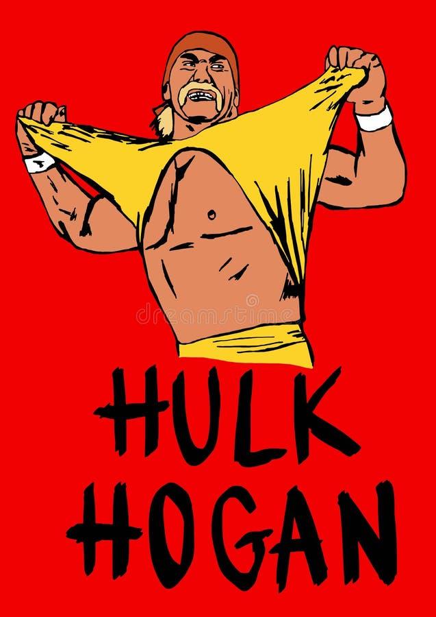 Hulk Hogan. Image of famous wrestler Hulk Hogan
