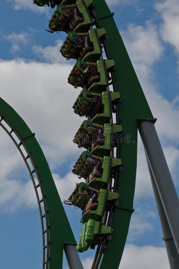Hulk Roller Coaster Islands of Adventure Orlando stock photography