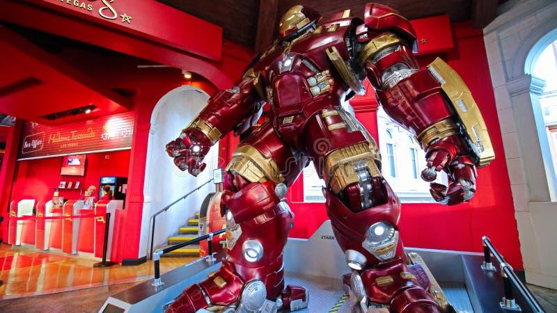 Hulka kolesia ?elaza m??czyzna kostium przy Madame Tussauds muzeum fotografia royalty free