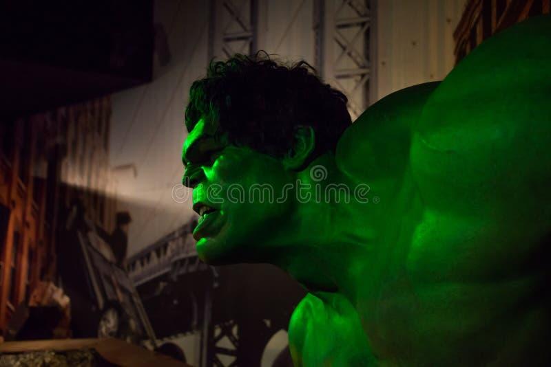 Hulken i museet av madamen Tussauds royaltyfri foto