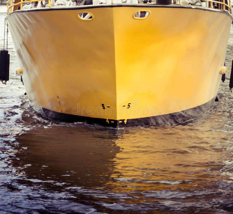 Hull of a Boat. Abstract view royalty free stock photo