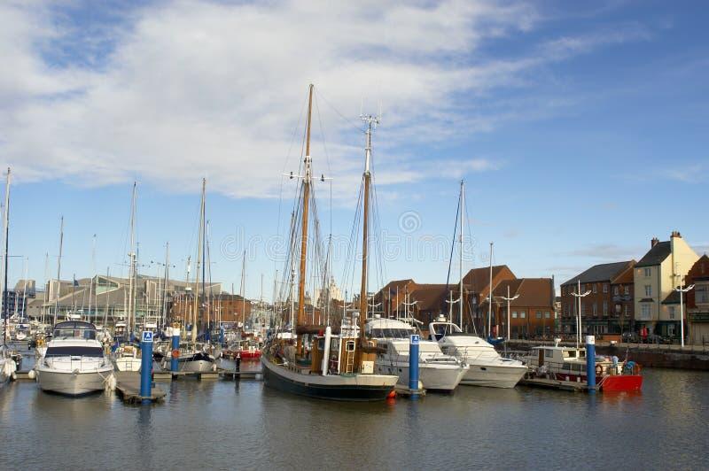 Hull Marina stock image