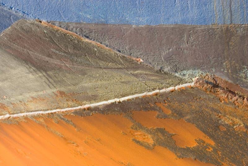 hull rdzewiejąca rejs obraz stock