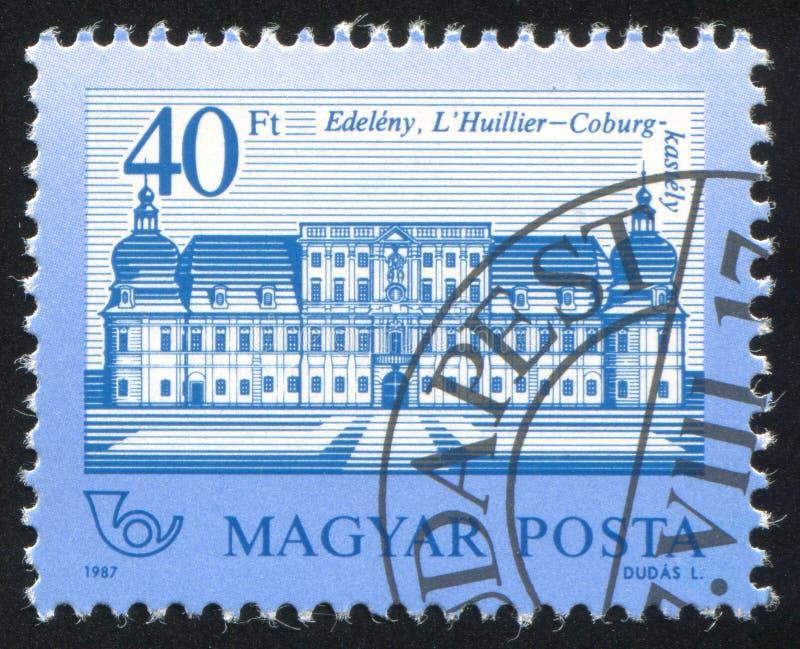 Hullier-Kammgarn-stoff Schloss stockfotografie