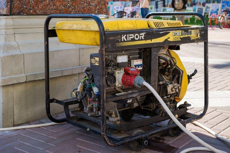 Hulp Draagbare Diesel Generator voor Noodsituatie Electric Power stock foto