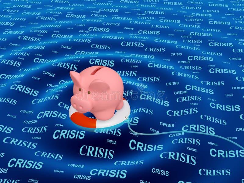 Hulp in een crisissituatie stock afbeelding