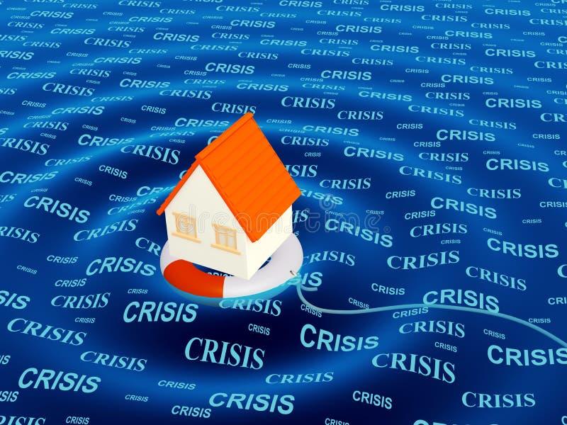 Hulp in een crisissituatie royalty-vrije illustratie