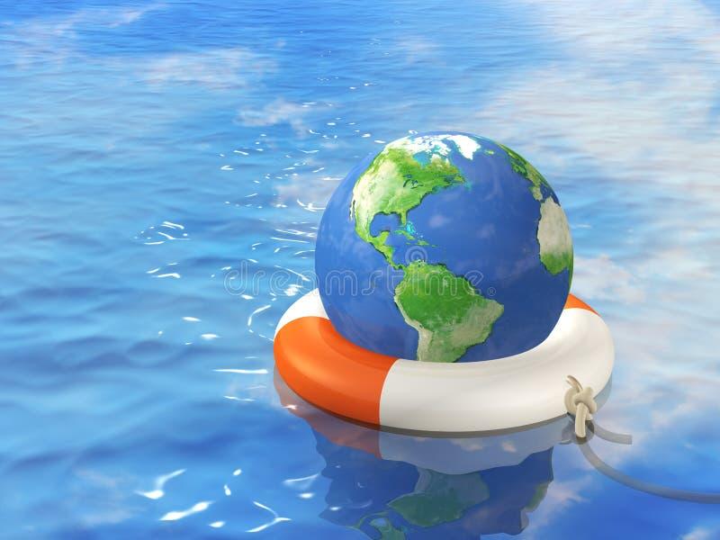 Hulp in globale crisis royalty-vrije illustratie