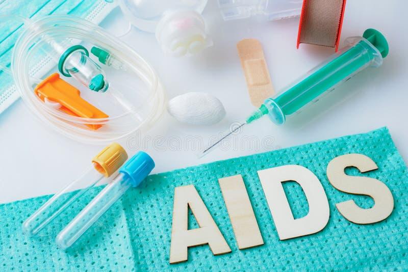 Hulp, HIV Concept Gezondheidszorg en Medisch Concept stock foto's