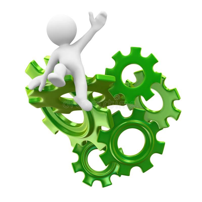 Hulp met technologie stock illustratie