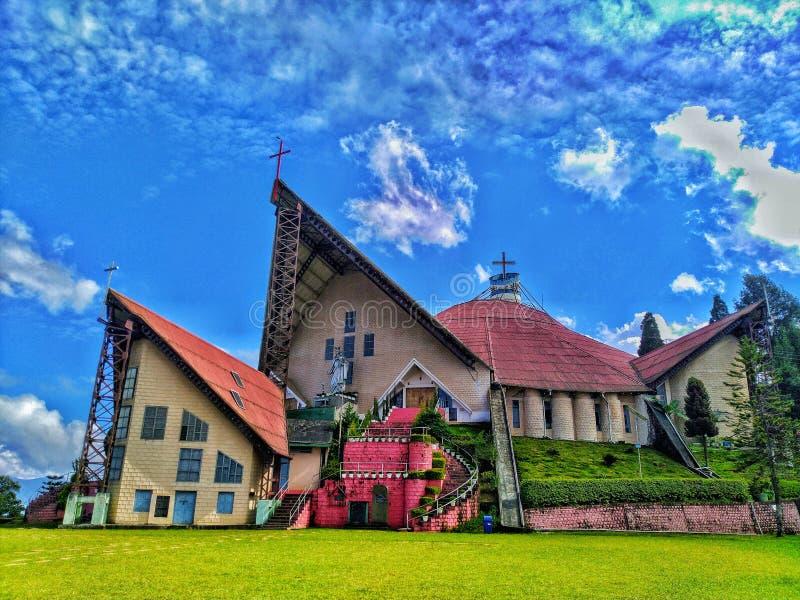 Hulp van de Mary Cathedral-kerk in Kohima Nagaland India stock afbeeldingen