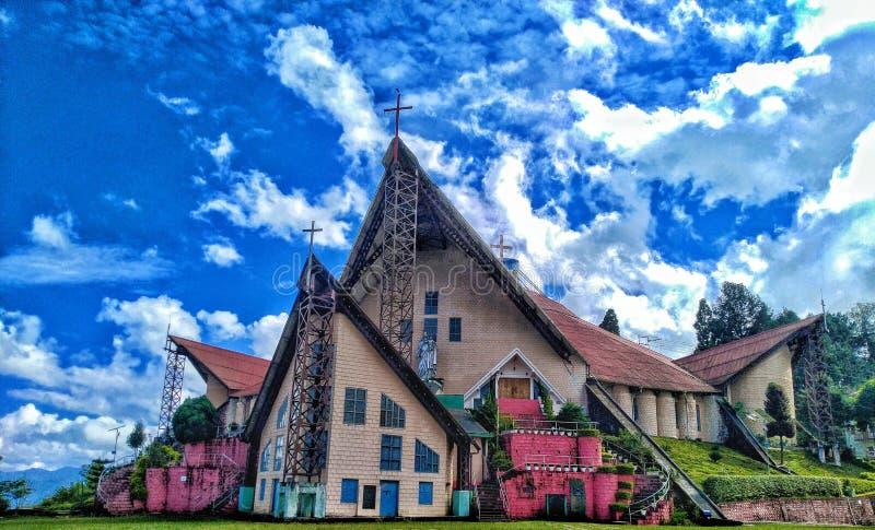 Hulp van de Mary Cathedral-kerk in Kohima Nagaland India royalty-vrije stock fotografie