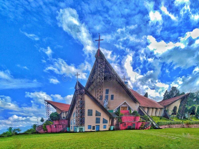 Hulp van de Mary Cathedral-kerk in Kohima Nagaland India royalty-vrije stock foto's