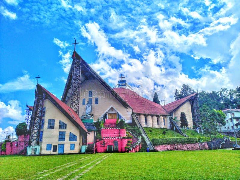 Hulp van de Mary Cathedral-kerk in Kohima Nagaland India stock afbeelding